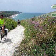 Sulla Ciclovia Adriatica con Bicistaffetta