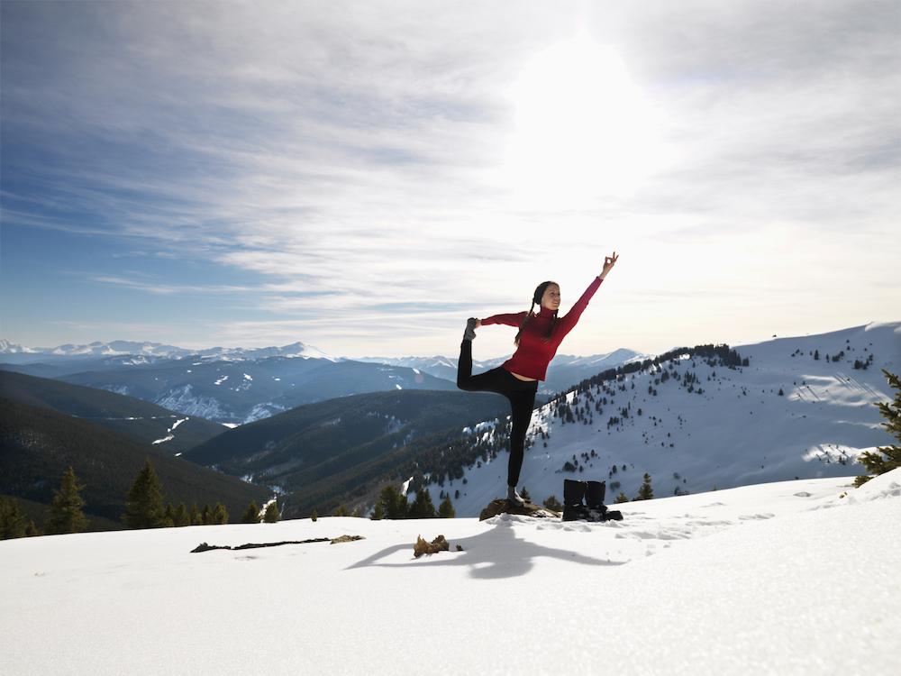 yoga snow
